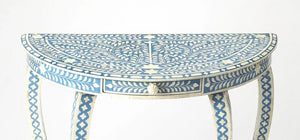 Butler Specialty Company Blue Bone Inlay Demuline Console Table