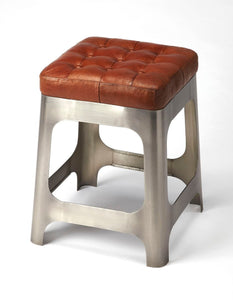 Butler Gerald Iron & Leather Counter Stool