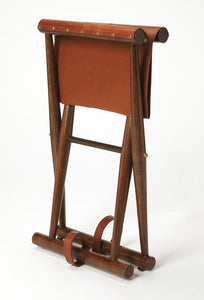 Butler Specialty Company Leather Sutton Folding Stool