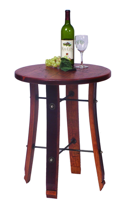 Round Wine Barrel Stave End Table 2 Day Designs 4064