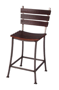"Wine Barrel Stave Bar Stool 24"" 2 Day Designs 4087S"