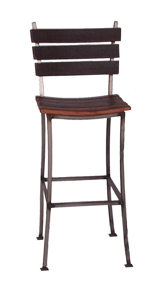 Wine Barrel Stave Back Bar Stool 30