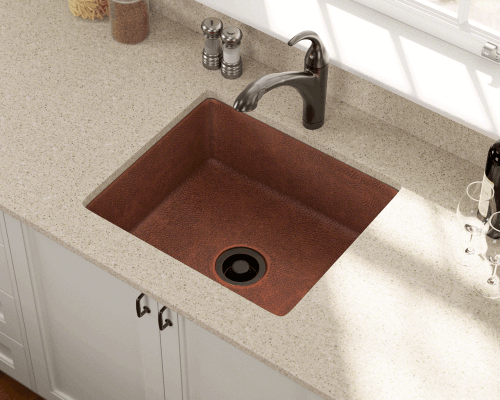 Polaris Sinks P409 Undermount Copper 25 in. Single Bowl Kitchen Sink