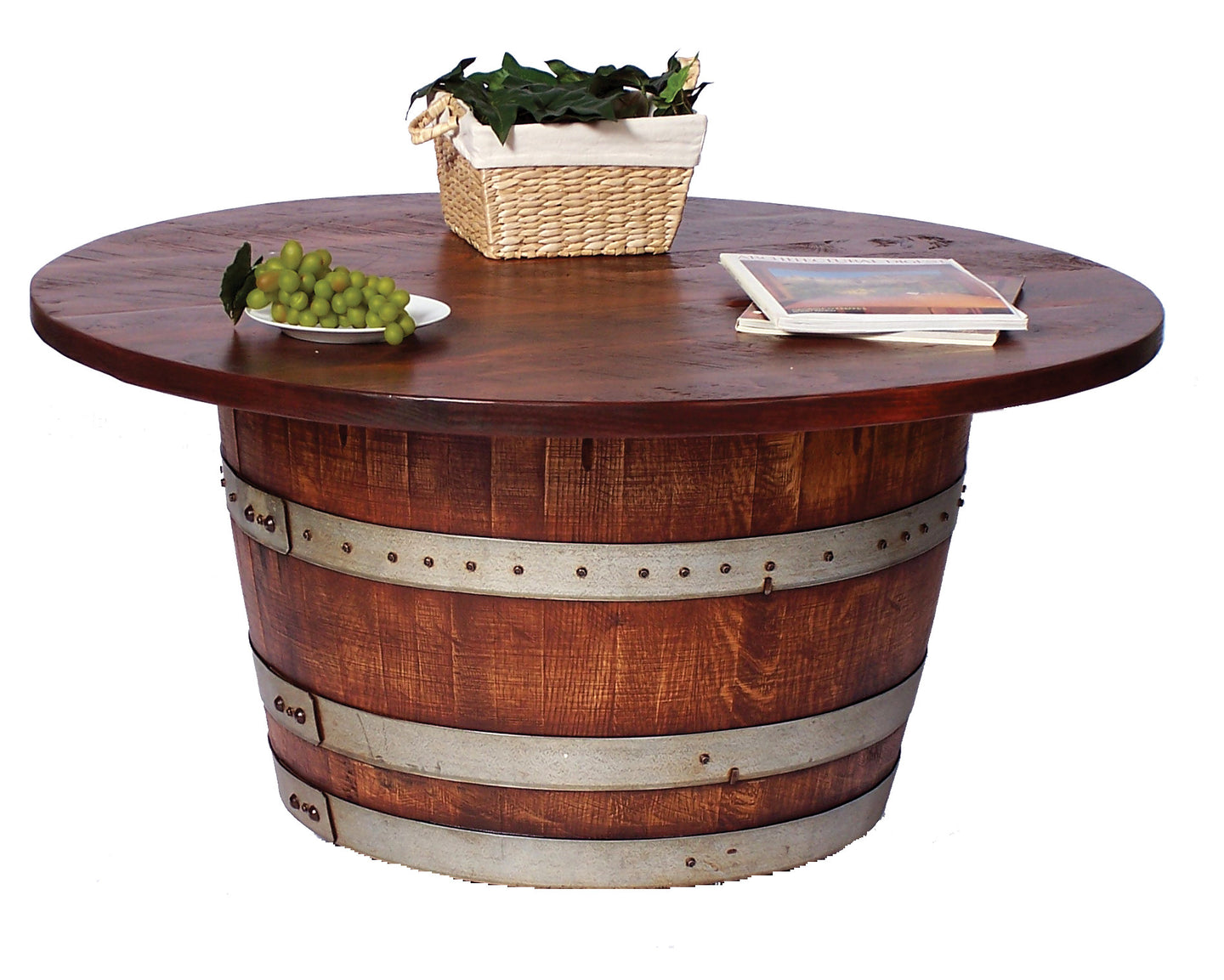 Half Wine Barrel Coffee Table The Rustic Furniture Store