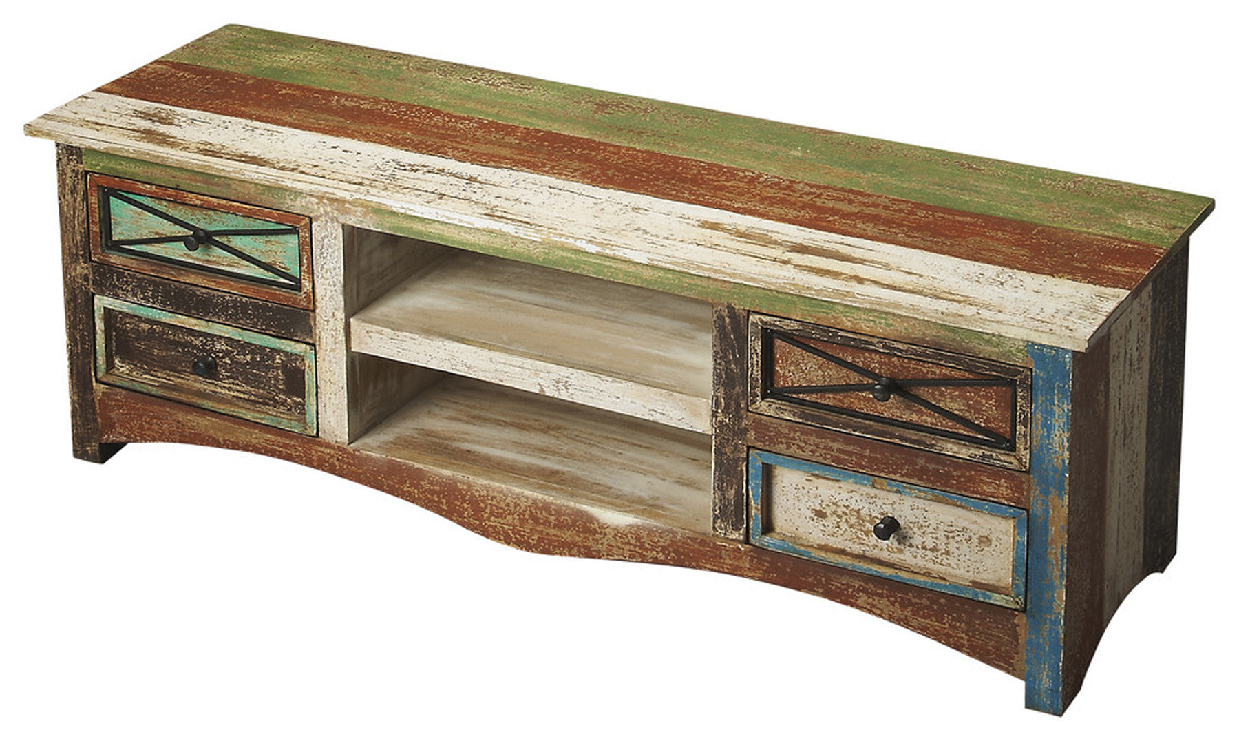 Decatur Recycled Wood Entertainment Console By Butler Specialty Company  4238290 ...