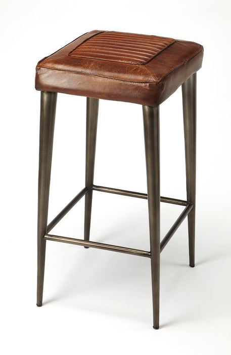 Butler Maxine Leather Backless Bar Stool