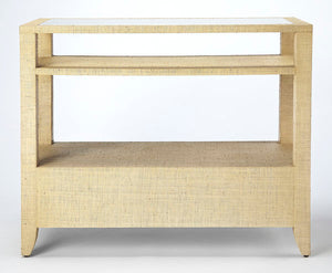 Butler Specialty Company Amelle Cream Raffia Console Table