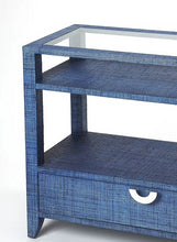 Butler Specialty Company Amelle Blue Raffia Console Table