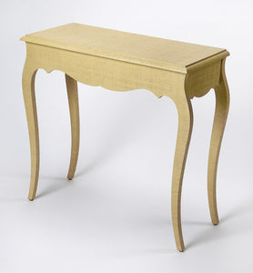 Butler Felicia Natural Raffia Console Table