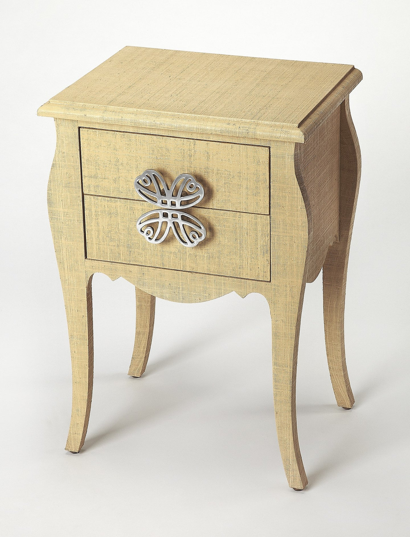 Butler Felicia Natural Raffia End Table