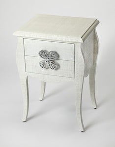 Butler Felicia White Raffia End Table