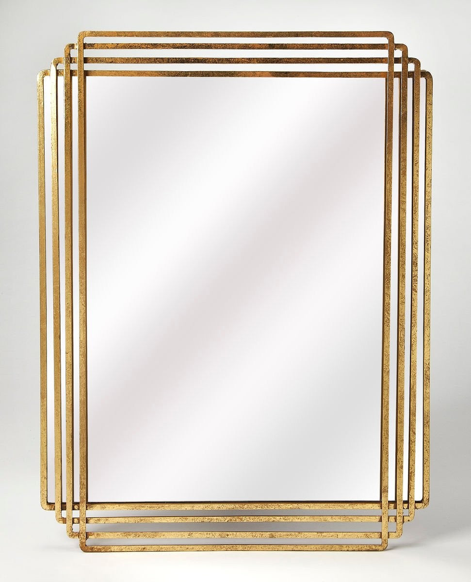Butler Uptown Gold Rectangular Wall Mirror