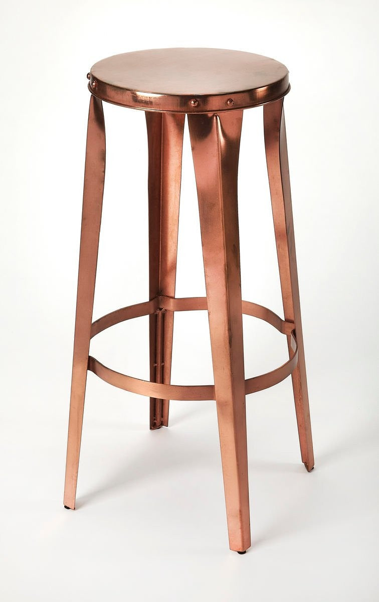 Butler Ulrich Copper Backless Bar Stool