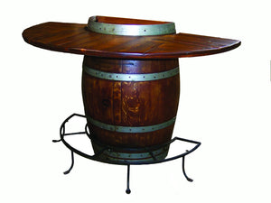 Half Wine Barrel Bistro Table by 2 Day Designs 5011*