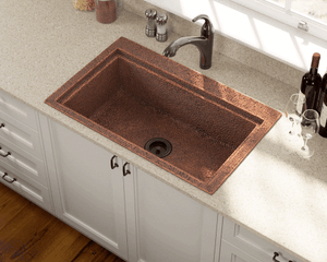 Polaris Sinks P519 Dual Mount Copper 32 in. Single Bowl Kitchen Sink