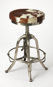 Butler Hair-On-Hide Donovan Barstool
