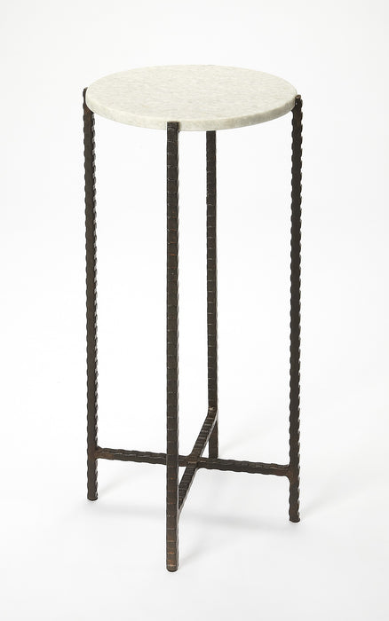 Butler Round Marble & Metal Nigella Accent Table