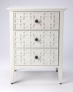 Butler Kinsley Glossy White 3-Drawer Accent Chest