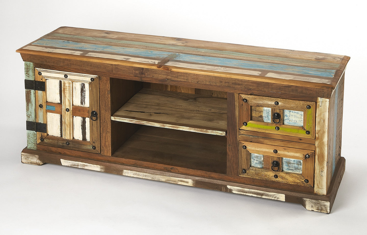 Butler Reverb Painted Rustic Entertainment Console