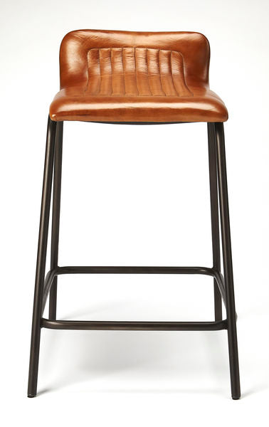 Butler Ludlow Leather & Metal Counter Stool