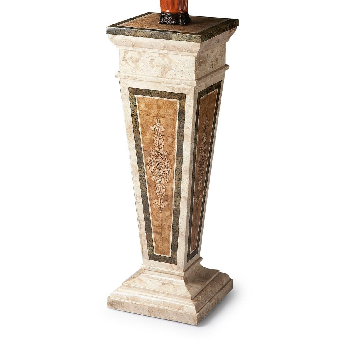 Butler Augustus Etched Fossil Stone Pedestal
