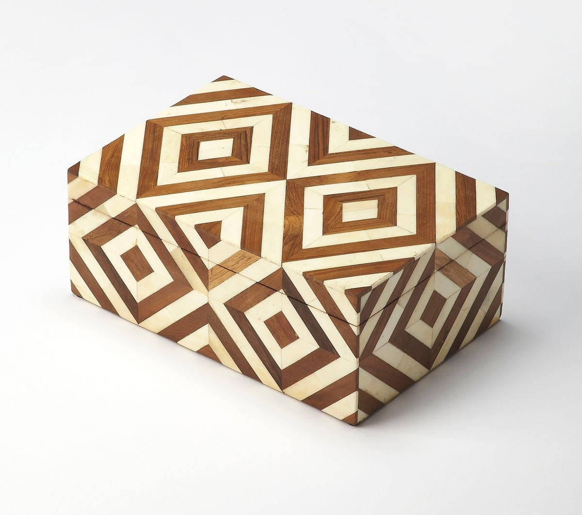 Butler Maya Wood & Bone Inlay Storage Box