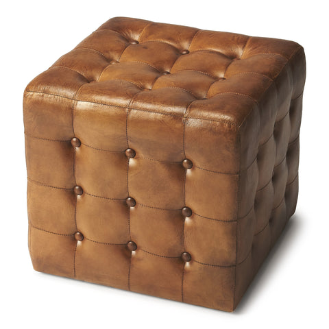 Leon Brown Leather Ottoman By Butler Specialty Company 6165344