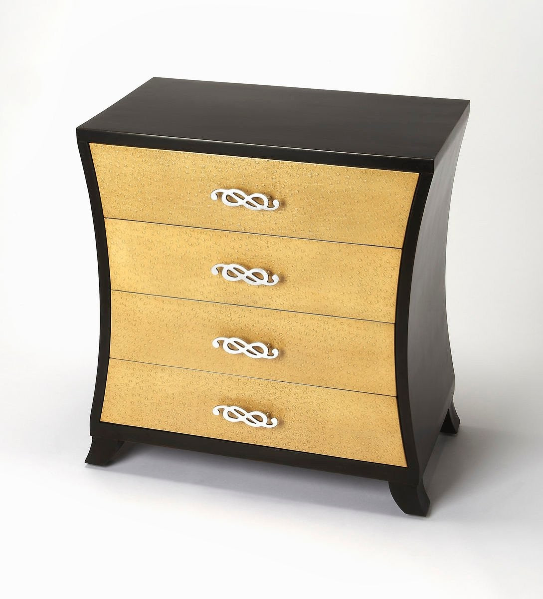 Butler Saverio Ostrich Leather Drawer Chest