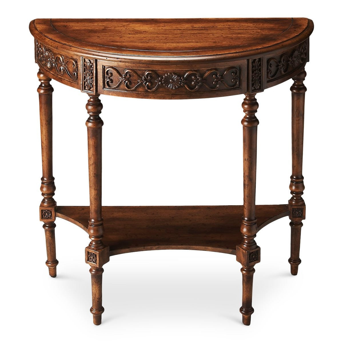 Butler Danelle Dark Toffee Demilune Console Table
