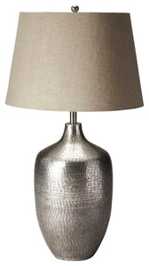Butler Lemont Antique Silver Table Lamp