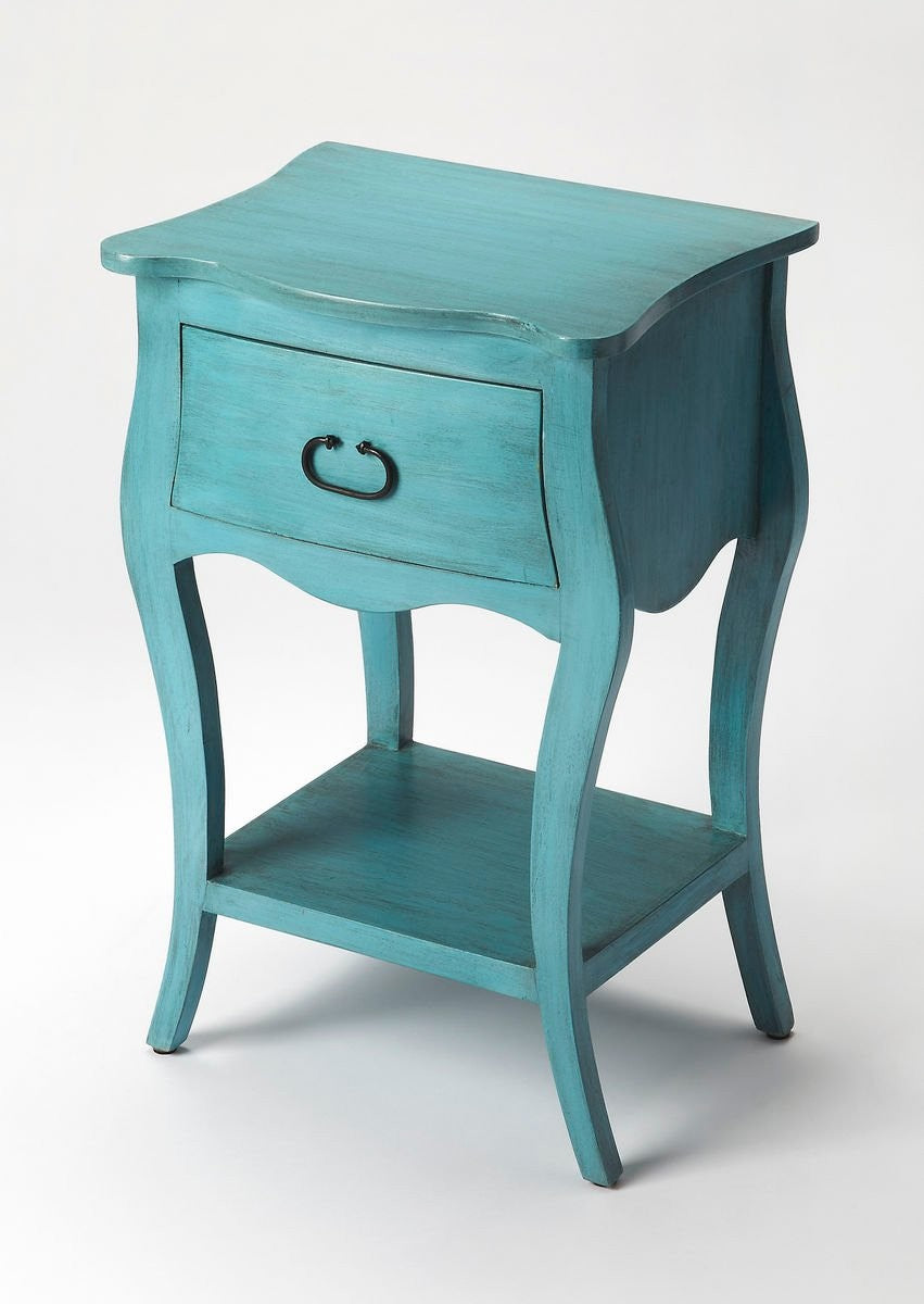 Butler Rochelle Distressed Blue Nightstand
