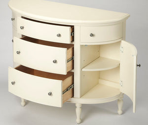 Butler Specialty Comoany Bedford White Demilune Console Chest