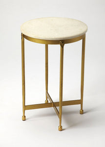 Butler Claypool White Marble End Table