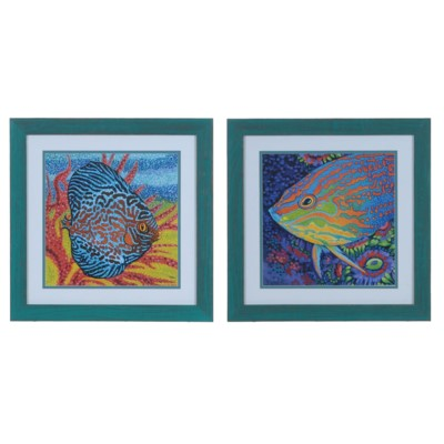 Brilliant Tropical Fish 1 & 2 (Set) By Crestview Collection