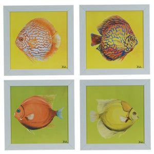 Bright Aquatic Life (Set Of 4) By Crestview Collection