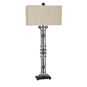 Iron Table Lamp with Iron Base - The Rustic Furniture Store