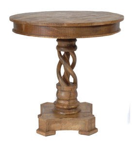 Bengal Manor Mango Wood Twist Accent Table - The Rustic Furniture Store