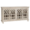 Bengal Manor Light Mango Wood Cathedral Design 4 Door Sideboard - The Rustic Furniture Store