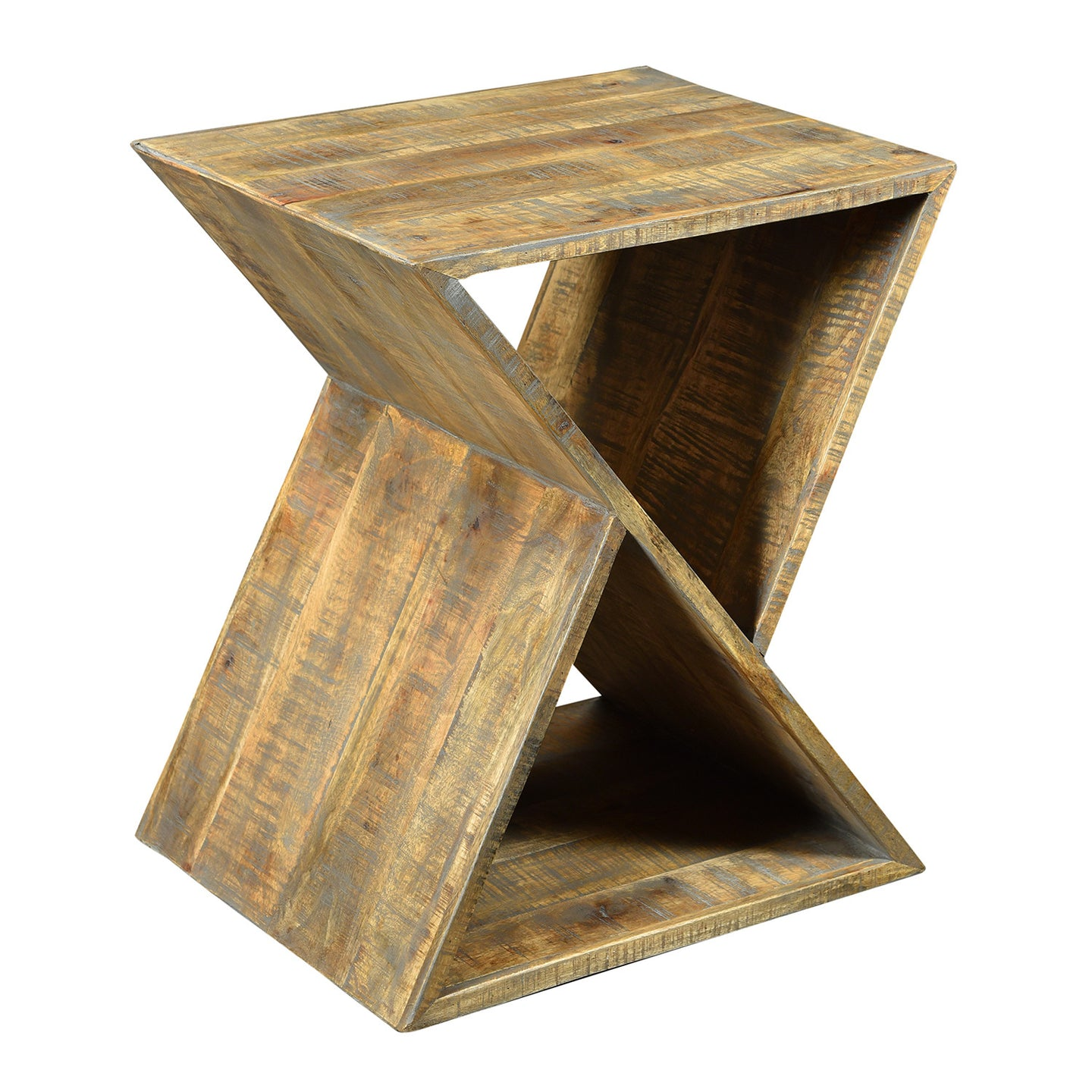 Bengal Manor Mango Wood Angled End Table By Crestview Collection Cvfnr327