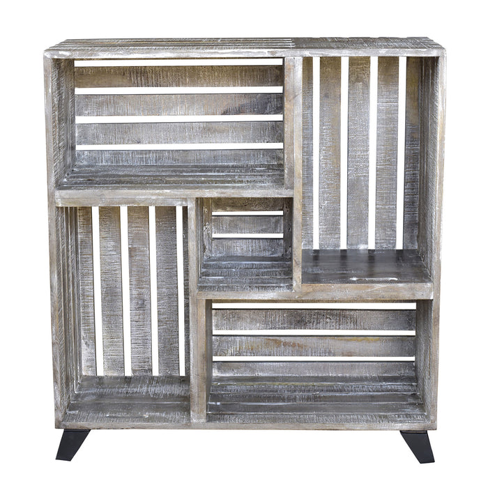 Mango Wood Reclaimed Crates Bookcase Bengal Manor Collection By Crestview Collection Cvfnr340