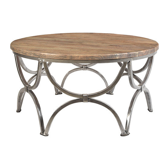 Bengal Manor Mango Wood And Steel Round Cocktail Table By Crestview Collection Cvfnr363