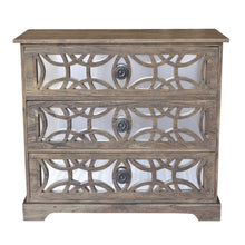 Bengal Manor Dark Mango Wood 3 Drawer Fretwork And Metal Chest By Crestview Collection Cvfnr371