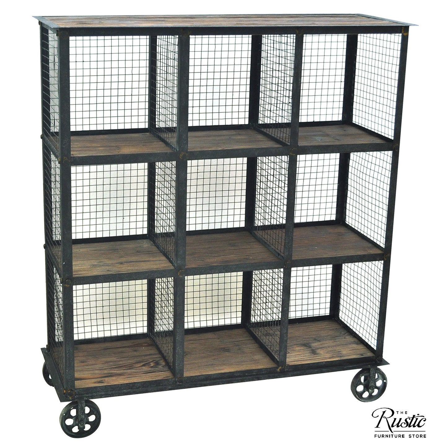 Industrial Metal And Wood Bookcase By Crestview Collection Cvfzr1004