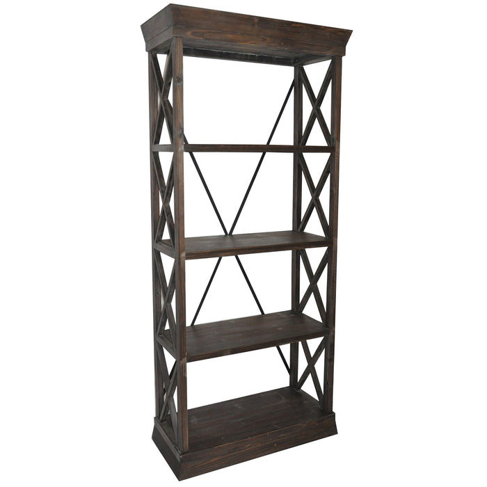 Grand Junction Wood Bookcase - The Rustic Furniture Store