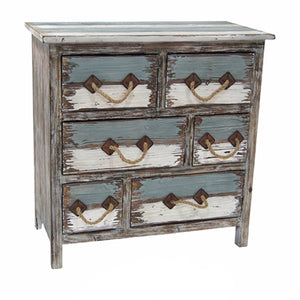 Nantucket 6 Drawer Weathered Wood Chest - The Rustic Furniture Store