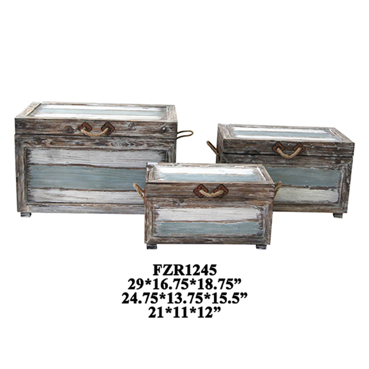 Nantucket Weathered Wood Trunks - The Rustic Furniture Store
