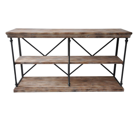 La Salle Metal and Wood Console - The Rustic Furniture Store