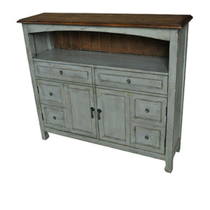 Bedford 2 Drawer / 2 Door Sage Grey Cabinet W/ Wood Top By Crestview Collection Sku Cvfzr1887