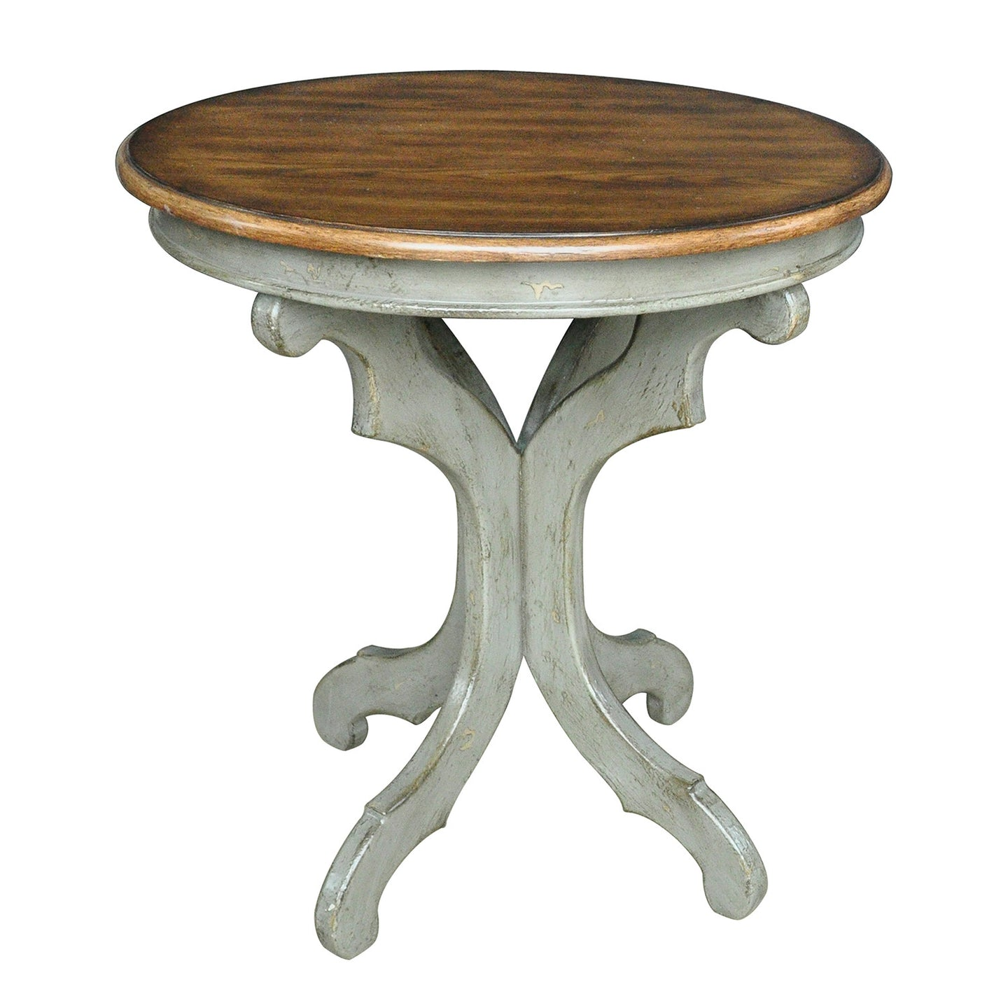 Gresham Textured Grey and Oak Veneer Accent Table - The Rustic Furniture Store