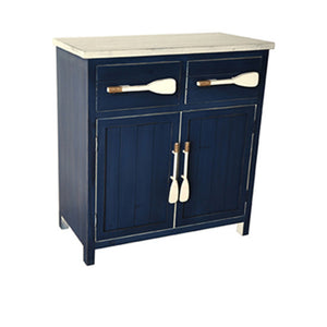 Cape May Azure Blue And White 2 Drawer / 2 Door Paddle Cabinet By Crestview Collection Cvfzr1901